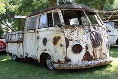 dual cab patina Bus Volkswagen, Vw T1, Vw Camper, Scooter Store, T2 Bus, Kdf Wagen, Rat Look, Combi Vw, Ferdinand Porsche