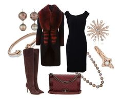 """""""Christmas Tree Lighting in the City Square"""" by queenalex ❤ liked on Polyvore featuring David Yurman, Colette Jewelry, Zoe, Givenchy, Dolce&Gabbana, Gianvito Rossi and Chanel"""