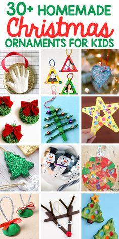 30 Homemade Christmas Ornaments for Kids Christmas Crafts For Toddlers, Snowman Christmas Ornaments, Preschool Christmas, Christmas Activities, Toddler Crafts, Toddler Activities, Crafts For Kids, Homemade Christmas, Diy Christmas Gifts