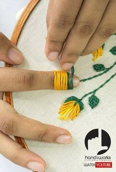 Ribbon Embroidery Patterns Flower Designs are a classic motif in embroidery, but they're also a bit of a trend. Whether you want to stitch some flowers with easy way and using with pearl/ perle coton threads. Hand Embroidery Projects, Hand Embroidery Videos, Embroidery Stitches Tutorial, Embroidery Flowers Pattern, Creative Embroidery, Silk Ribbon Embroidery, Hand Embroidery Designs, Beaded Embroidery, Embroidery Ideas