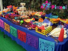 mesa de botanas para fiesta mexicana