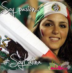 Para todas las latinas futboleras ;) Soy pasión. Soy Latina.