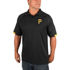 Pittsburgh Pirates Majestic Outburst Polo - Black