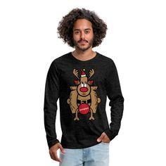 Dirty Rudolph zu Weihnachten als Geschenk. Dirty Rudolph - zensiert. Rudolph überzeugt mit seiner roten Nase. Ein ideales Geschenk zu Weihnachten, Neujahr und Geburtstag für Weihnachts Liebhaber und Ungly Xmas Fans. In verschiedenen Farben #rudolph #the #rednose #ugly #xmas #love #christmas #germany #weihnachten #merrychristmas #christmastime #advent #spreadshirt #tshirt #fashion #style #hoodie #weihnachten #fashion #geschenkideen #geschenke Advent, Shirts, Tops, Women, Fashion, Red Nose, Birthday, Colors, Cotton