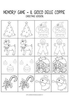 MiniFactory: Memory di Natale. Il gioco delle coppie (dai 2 anni in su). Preschool Christmas, Christmas Crafts For Kids, Christmas Activities, Christmas Colors, Christmas Time, Christmas Decorations, Christmas Coloring Pages, Coloring Book Pages, Christmas Cards Drawing