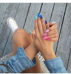 Relaxing Glitter Nail Art Designs Ideas Nails have become important fashion accessories for women in the present day world. From the traditional designs to the present […] Cute Acrylic Nails, Glitter Nail Art, Cute Nails, Pretty Nails, Acrylic Art, Acrylic Summer Nails Almond, Almond Nails Designs Summer, Almond Gel Nails, Hair And Nails
