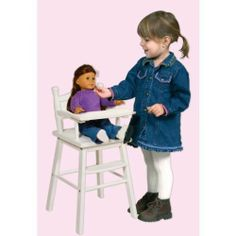 Doll High Chair - White Doll High Chair - White by WMU. $96.00. Brand Name: WMU Mfg#: 754636. Picture may wrongfully represent. Please read title and description thoroughly.. Shipping Weight: 7.00 lbs. Please refer to SKU# ATR20828116 when you inquire.. This product may be prohibited inbound shipment to your destination.. Doll High Chair - White. Our heirloom-quality Doll Furniture Collection is the perfect play-time ensemble. Made of hardwood solids, each piece is a...