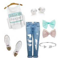 teen fashion by foreverfearliss on Polyvore featuring polyvore fashion style Frame Denim Converse Mikimoto Bling Jewelry Wet Seal