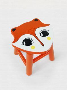 #decor #kid #kidthing #stool #chair #children #animal #cute #decor #decoration #childremroom #room #fox #orange #raposa