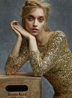 Gorgeous Golden Outfit 2015 By Reem Acra
