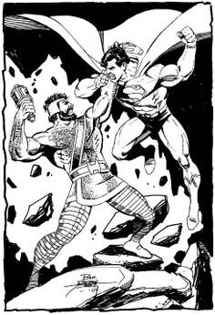 Marvel's Hercules vs. DC's Superman by the great George Perez.