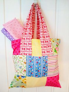 Shopping bag with thousands of flowers by poppyshome on Etsy, $10.00