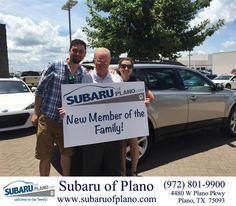 "https://flic.kr/p/v5F1jU | Congratulations to Daniel and Ana Lamphear on your #Subaru #Outback from Bill Burke at Subaru of Plano! #NewCar | <a href=""http://www.subaruofplano.com/?utm_source=Flickr&utm_medium=Dmaxx&utm_campaign=DeliveryMaxx"" rel=""nofollow"">www.subaruofplano.com/?utm_source=Flickr&utm_medium=D...</a>"