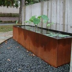 Image result for water feature with trough