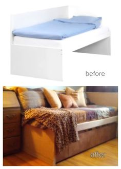 Ideas: Ikea Hack - ODDA Bed - Benches with large cushions
