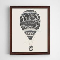 personalized hot air balloon wall art from RedEnvelope.com