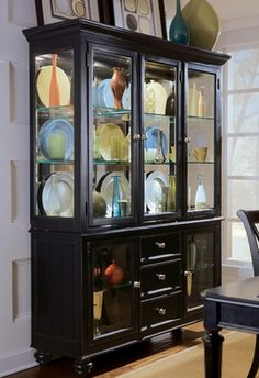 american drew camden black china cabinet for formal and everyday dining sets