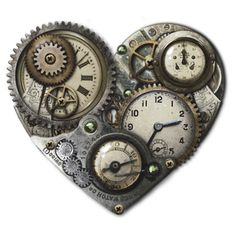 Steampunk Heart Clock T-shirt