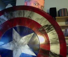 Nerd stuff geek culture presents: DIY Captain America shield for pretty cheap. Coooool! Comic books for life, y'all. The movies are pretty sweet too.