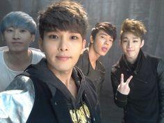 Eunhyuk, Ryeowook, Donghae, and Henry
