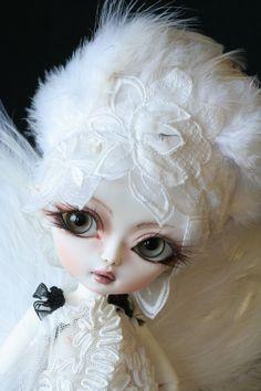 OOAK doll bjd Hujoo berry  handmade custom white angel, via Etsy.