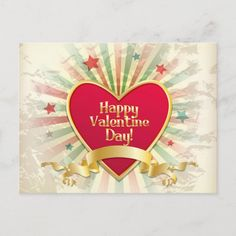 Customizable Valentine's Day Postcards - Happy Valentines Day postcard 8 postcards.