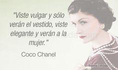 Frase de Coco Chanel, diseñadora de moda