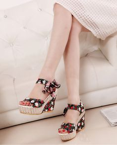 Buy New Arrival Ladies Shoes Women Sandals Summer Open Toe Fish Head Fashion Platform High Heels Wedge Sandals Party Outfit For Teen Girls, Platform High Heels, Womens High Heels, Fashion Boots, Fashion Fall, Trendy Fashion, Wedge Sandals, Sport Sandals, Shoes Heels
