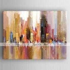 Pintados à mão Abstracto Pinturas a óleo,Tradicional 1 Painel Tela Hang-painted pintura a óleo For Decoração para casa de 2248883 2016 por R$215,99