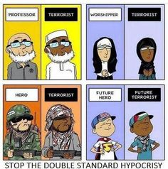 Double standard hypocrisy