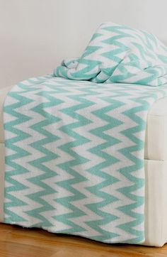Rizzy Home Chevron Throw Blanket | Nordstrom $59 - cotton - machine washable - lay flat to dry