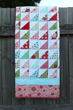 bliss-love the fabric and the triangles!