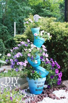 Staggered Stacked Planters