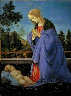 Filippino Lippi - Madonna in adorazione del Bambino - 1478 - Firenze - Galleria degli Uffizi