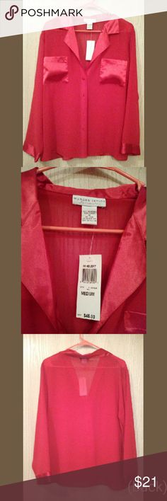 NWT $46 Red Intimate- Christmas Gift Worthy! A sexy sheer red top. Has original tags attached. In perfect, new condition from Morgan Taylor Intimates Morgan Taylor Intimates Intimates & Sleepwear