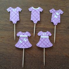 Baby shower/onesie and dress cupcake toppers (set of 20) by FestivaPartyDesign on Etsy