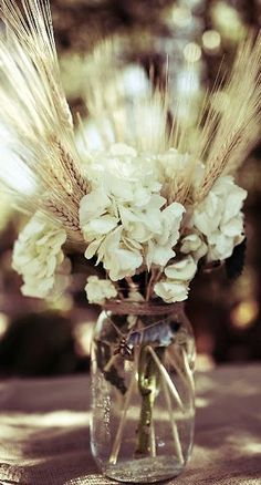 Resultado de imagen para gypsophila and wheat centerpieces first communion Wedding Table Flowers, Fall Wedding Bouquets, Fall Wedding Decorations, Baptism Table Decorations, Wheat Centerpieces, Wedding Centerpieces, Centerpiece Ideas, Table Flower Arrangements, Wedding Arrangements