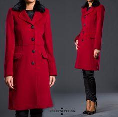 #Roberto_Verino abrigo #rojo