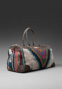 WILL LEATHER GOODS Oaxacan Duffle in Grey