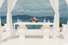 Dana villas Santorini Greece,  See more http://www.love4wed.com/pink-peonies-fairytale-wedding/