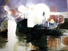 신종식 화백은 우리나라에서 수채화가로서 작품활동을 활발히 하고 있으며 자신의 색깔을 분명하게 구축한 ... Watercolor Landscape, Watercolor Art, Korean Art, Concept Art, Arts And Crafts, World, Boats, Universe, Blog
