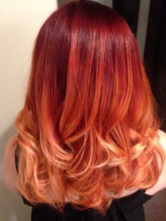 shoulder length red ombre hair - Google Search