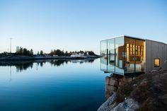 Manshausen i Steigen i Nord-Norge, hytte tilhørende hotellet til Børge Ousland