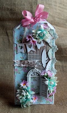 Cherish by mycreativecorner@y - Cards and Paper Crafts at Splitcoaststampers (love the little door - nice idea)