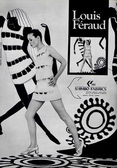View this item and discover similar for sale at - A stunningly sexy mini dress, this Louis Féraud sleeveless piece is constructed in soft black wool and features geometric cutaway details at the front. Sixties Fashion, Mod Fashion, Vintage Fashion, Gothic Fashion, Guy Laroche, Op Art, Louis Féraud, Dior, Nostalgic Images