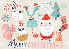 Love these Christmas illustrations by Rebecca Jones.