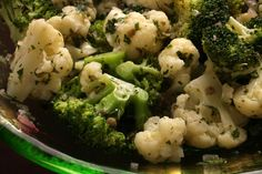 Herbed Cauliflower and Broccoli Salad