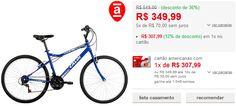 Bicicleta Caloi Terra Aro 26 21 Velocidades Azul << R$ 30799 >>