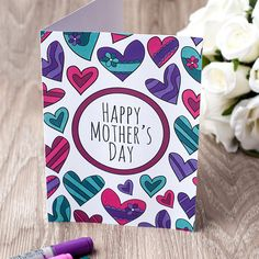 mothers day printable coloring card a printable greeting card to color for mothers day
