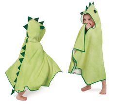 Cuddledry Cuddleroar Bamboo Toddler Dress Up Towel – Pack of 6 Dinosaur Gifts, Cute Dinosaur, Toddler Dress Up, Toddler Towels, Hooded Bath Towels, Baby Towel, Cute Characters, Baby Sewing, Sewing Projects
